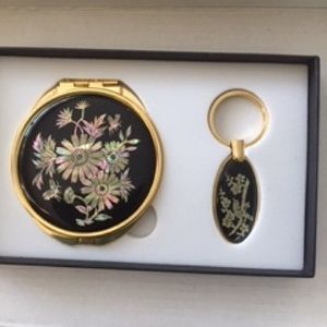Accessories - Compact mirror and key chain still in the box.